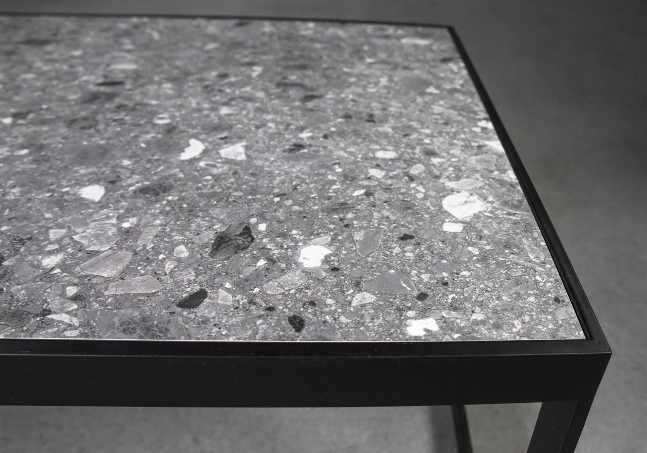 Terrazo Rectangle Coffee Table, Close Up