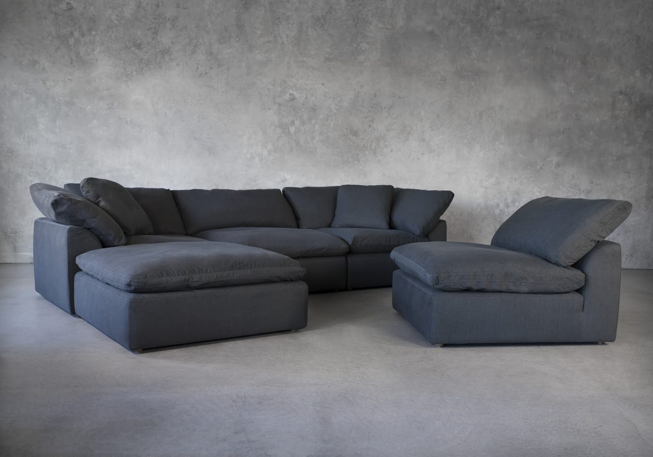 Tofino Sectional in Pepper Fabric, Chair
