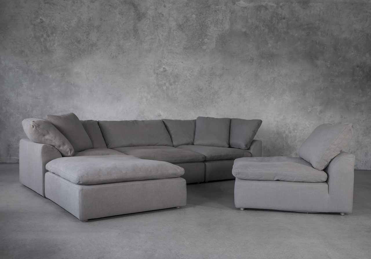 Tofino Sectional in Slate Fabric, Chair