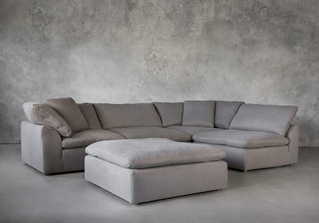 Tofino Sectional in Slate Fabric, Ottoman
