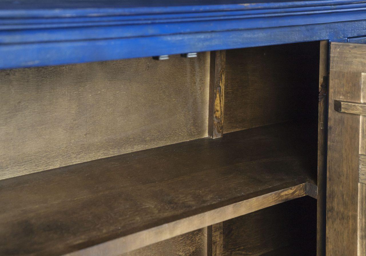 Capri Blue Console, Shelves