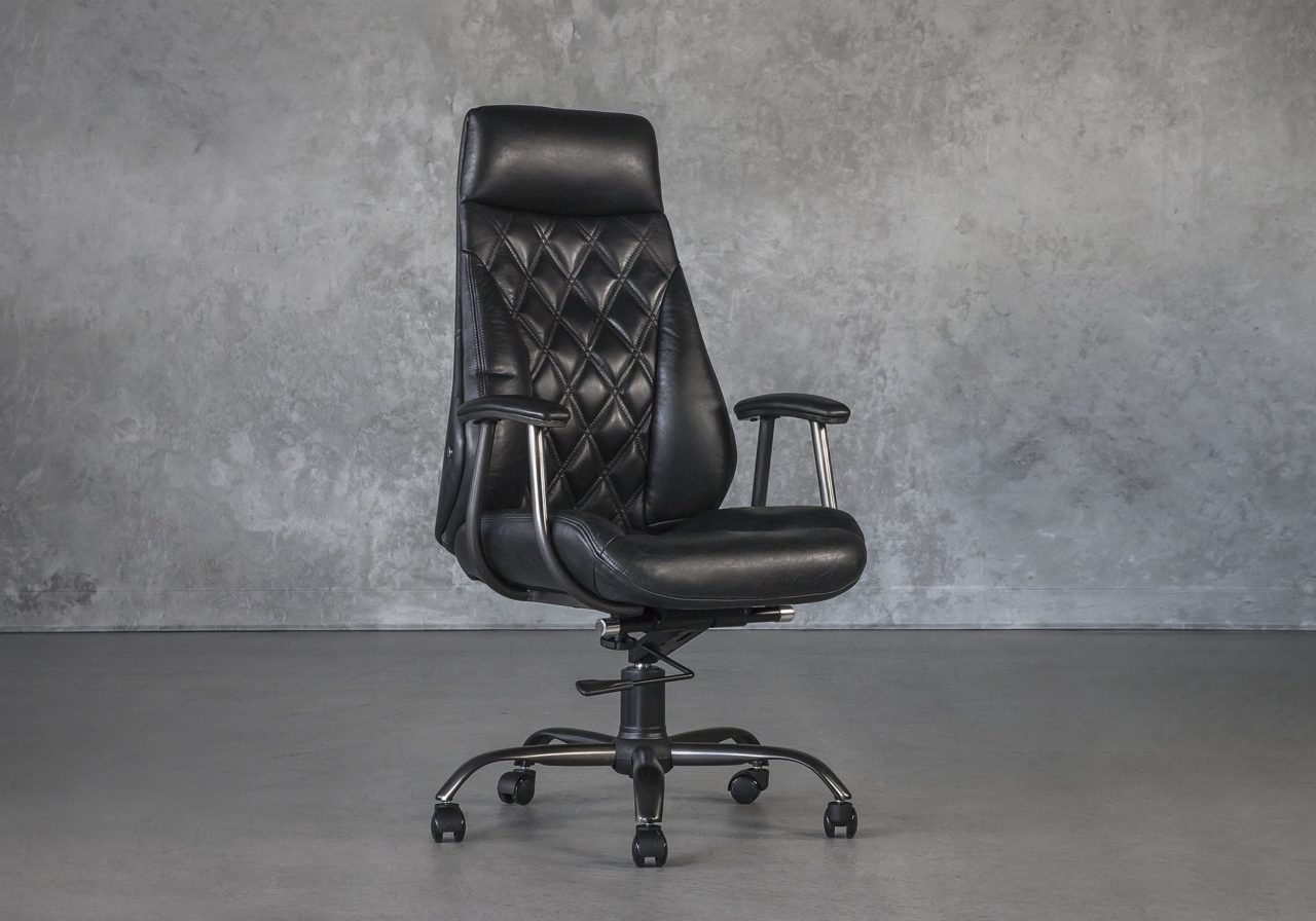 Clint Office Chair in Black, Angle