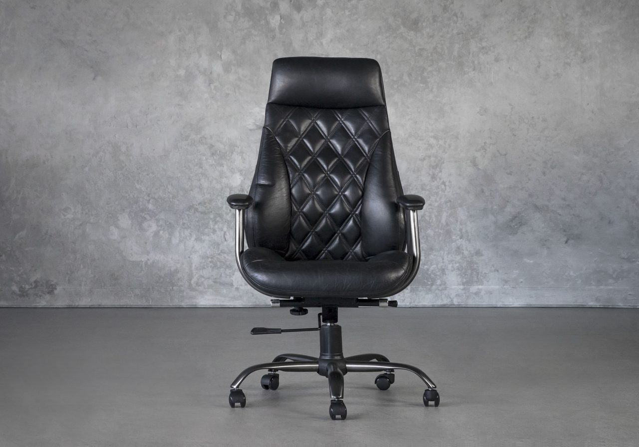 Clint Office Chair in Black, Front