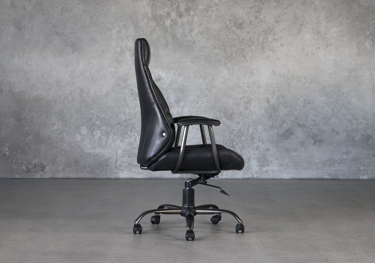 Clint Office Chair in Black, Side