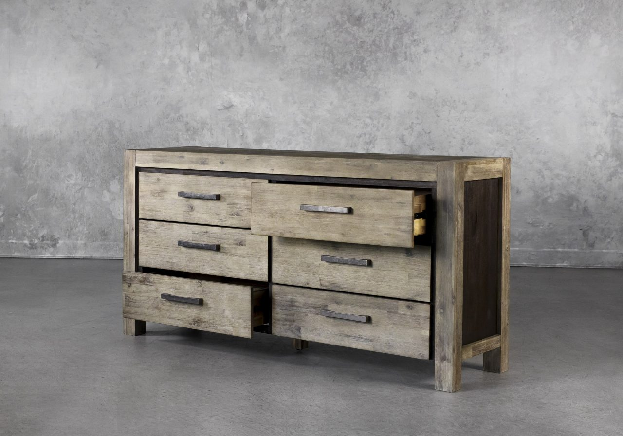 Corsica Double Dresser, Drawers Open
