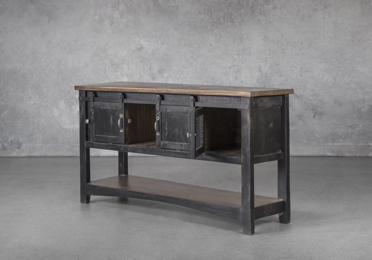 Eblo Console Table, Doors open