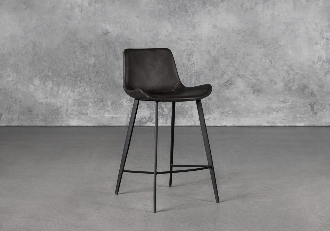 Hype Counter Stool in Vintage Grey, Angle