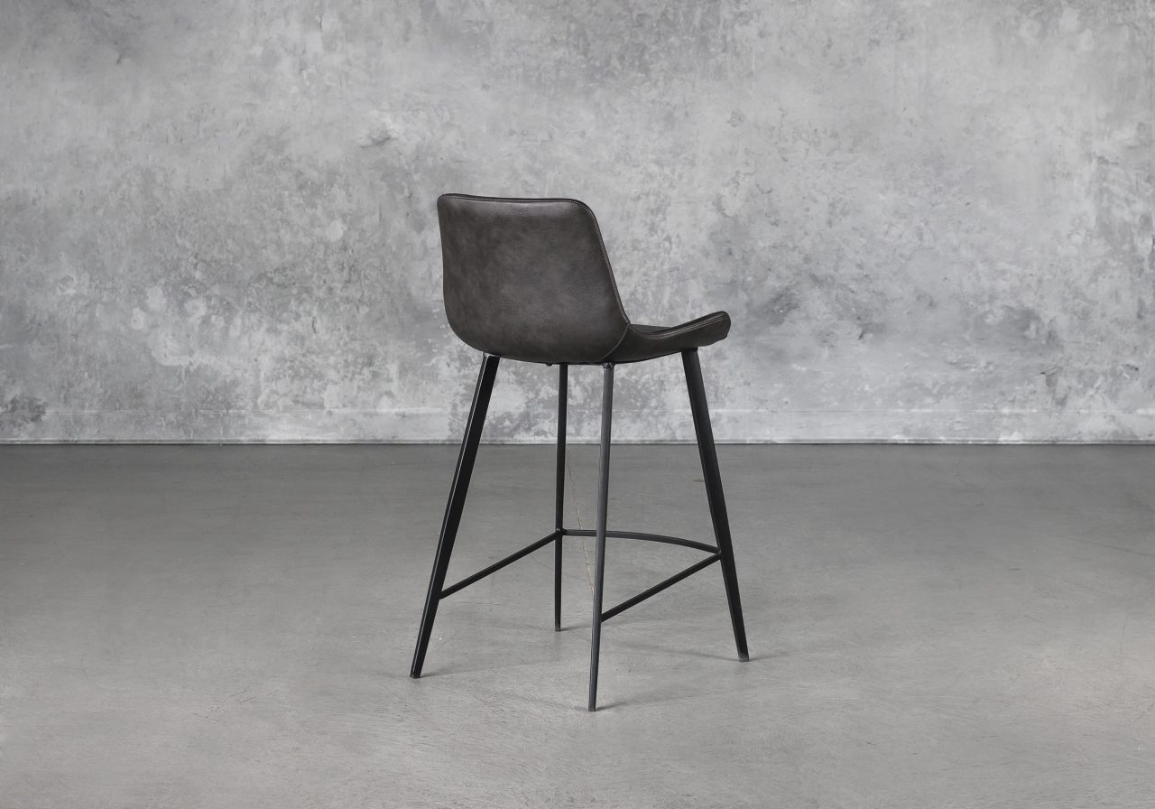 Hype Counter Stool in Vintage Grey, Back