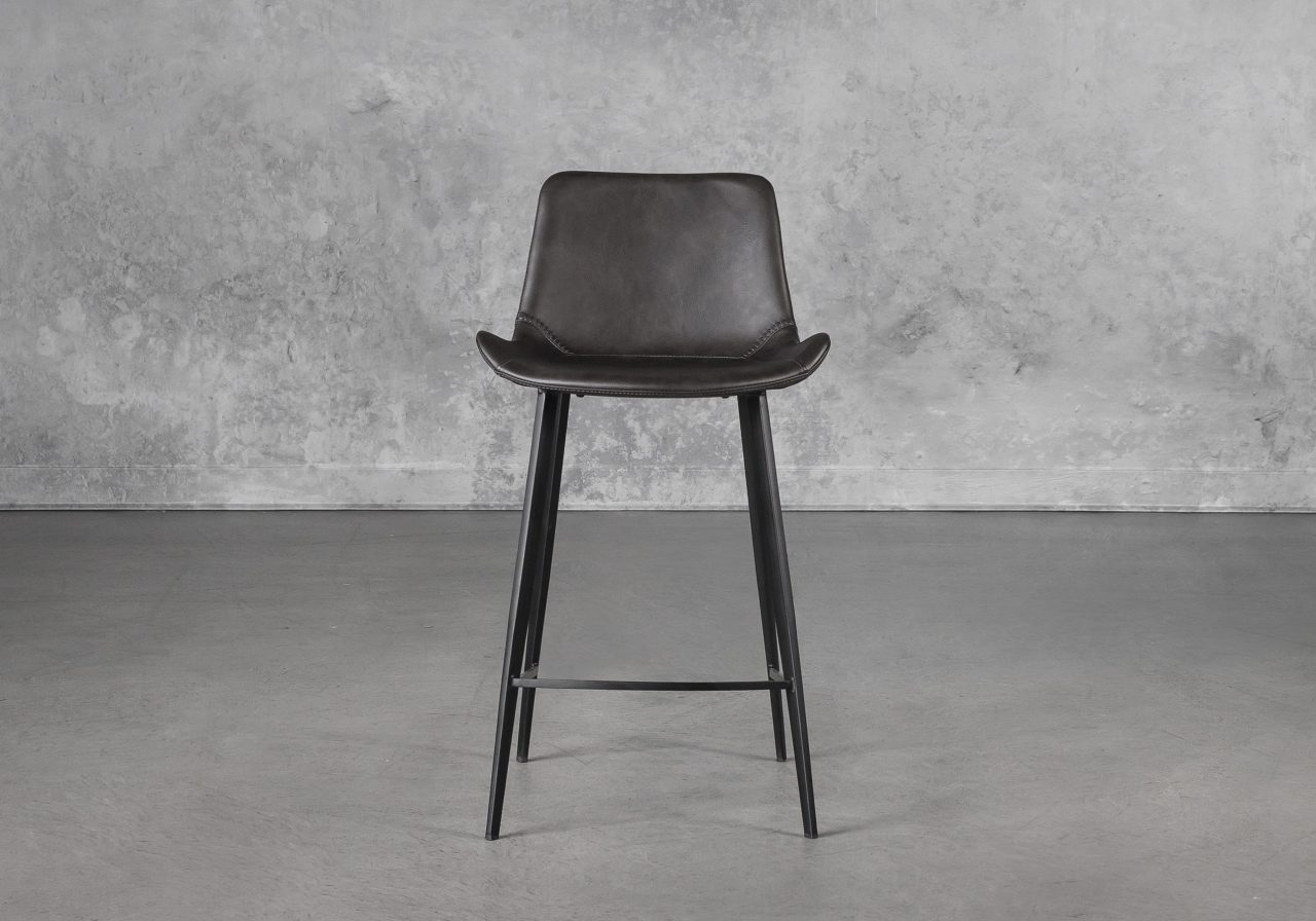 Hype Counter Stool in Vintage Grey, Front