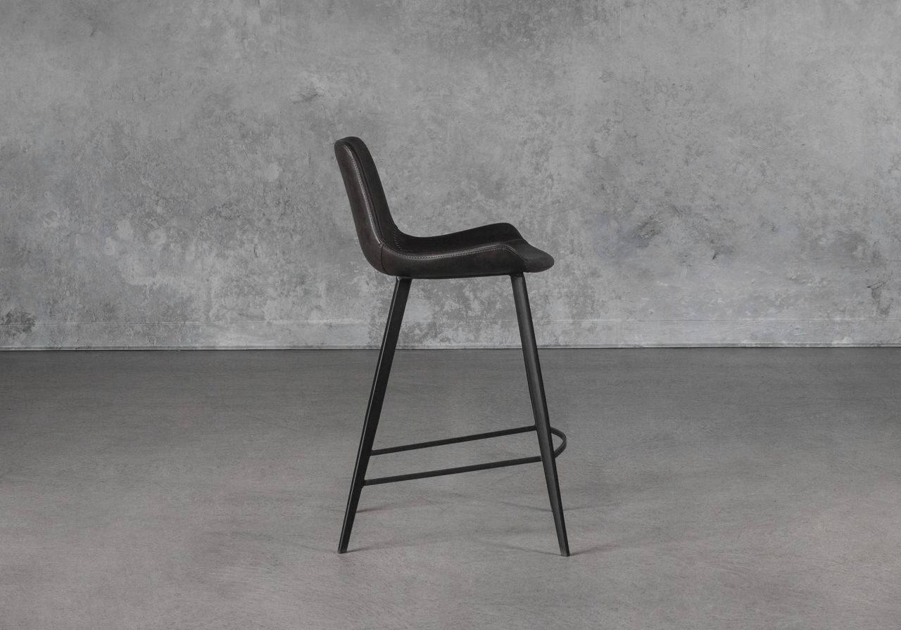 Hype Counter Stool in Vintage Grey, Side