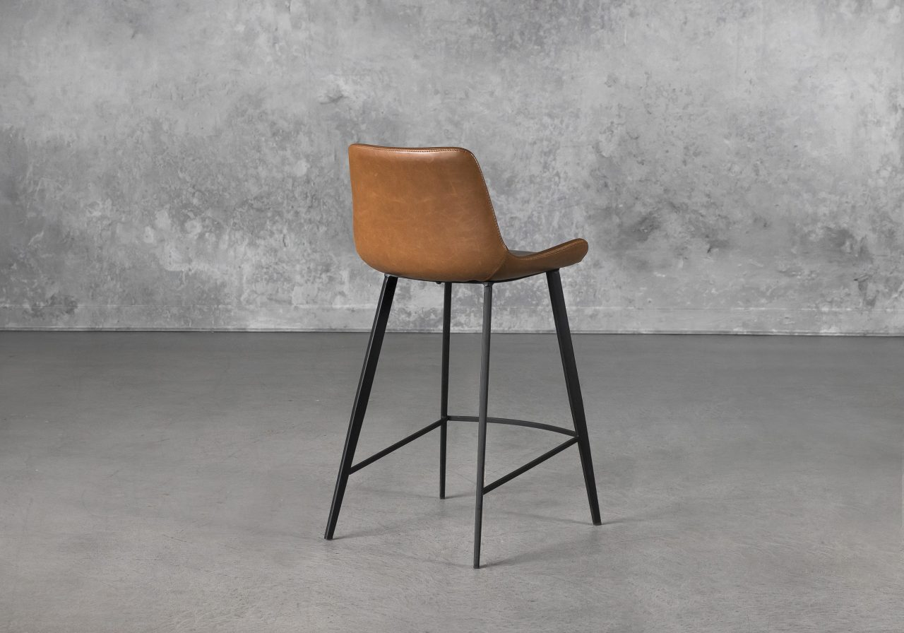 Hype Counter Stool in Vintage Light Brown, Back