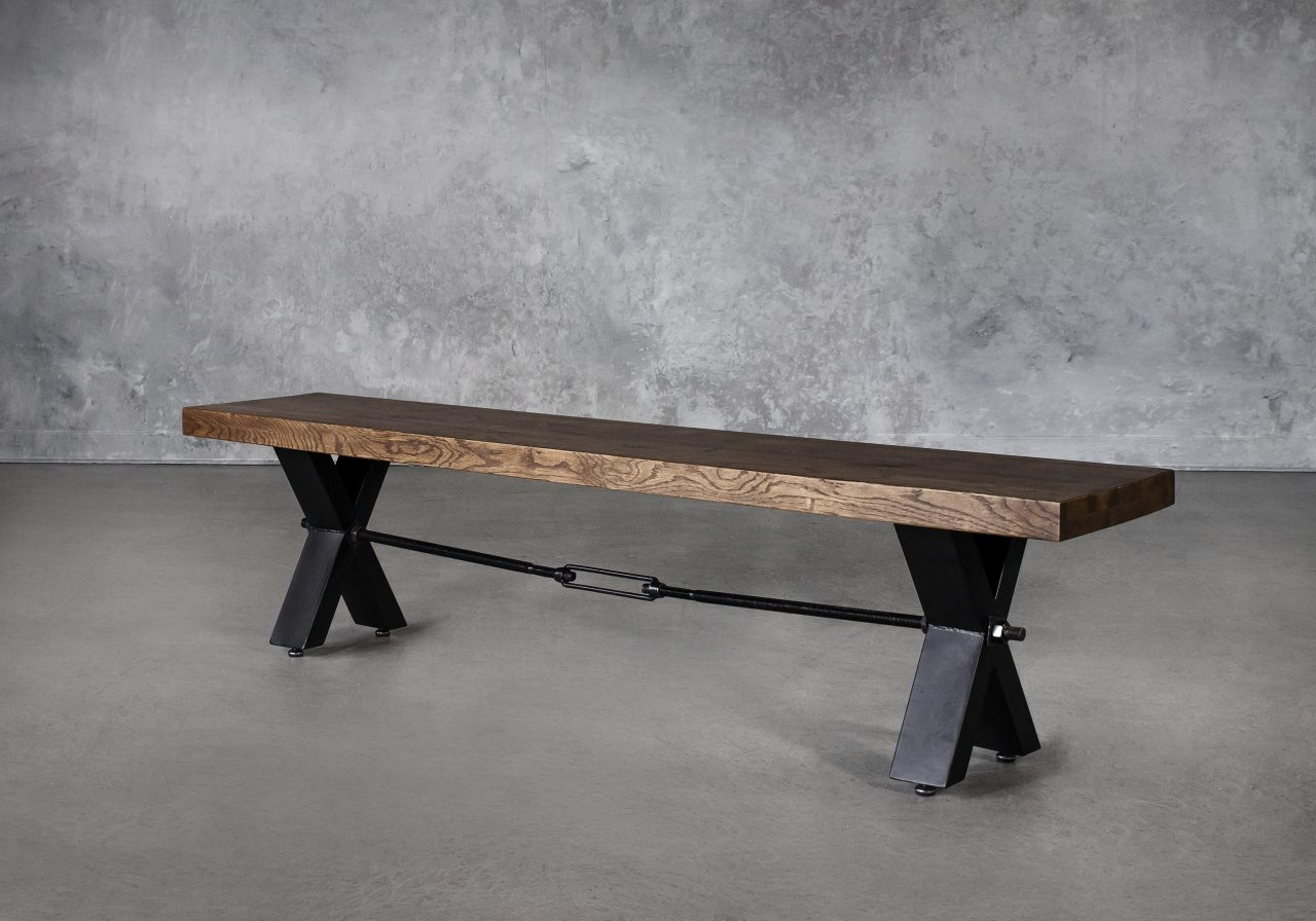 Ironside Dining Bench, Angle