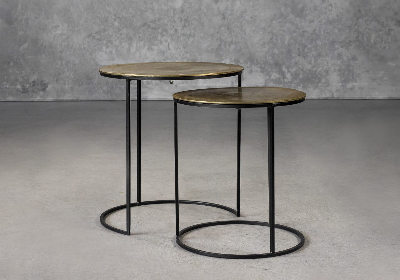 Latina End Table in Brass, Separate