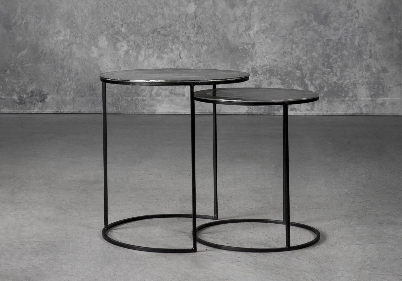 Latina End Table in Nickel, Separate