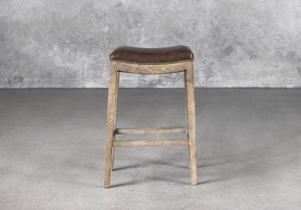 Ness Barstool in Brown, Front