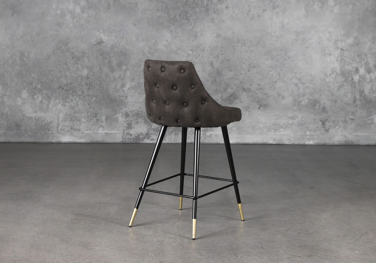 Norman Counter Stool in Charcoal, Back
