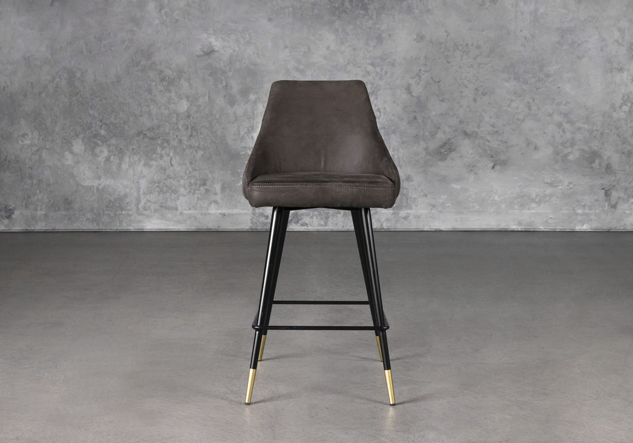 Norman Counter Stool in Charcoal, Front