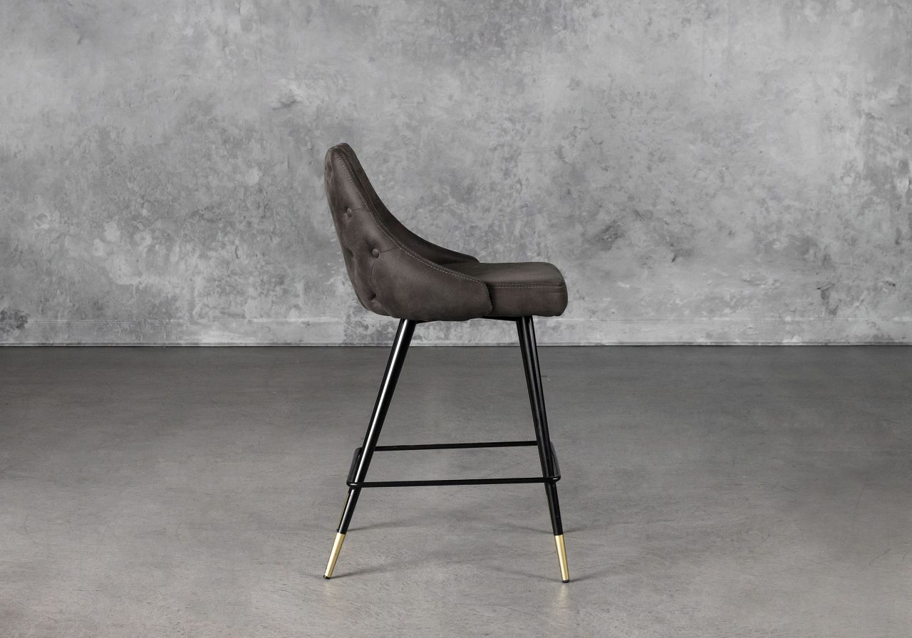 Norman Counter Stool in Charcoal, Side
