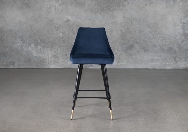 Norman Counter Stool in Navy, Front