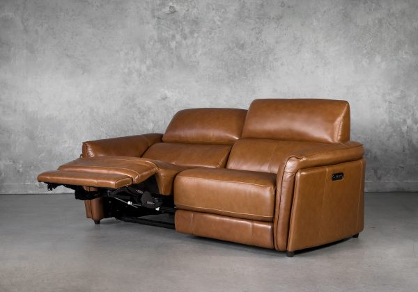 Clark Loveseat and Power Recliner, Reclined, Angle