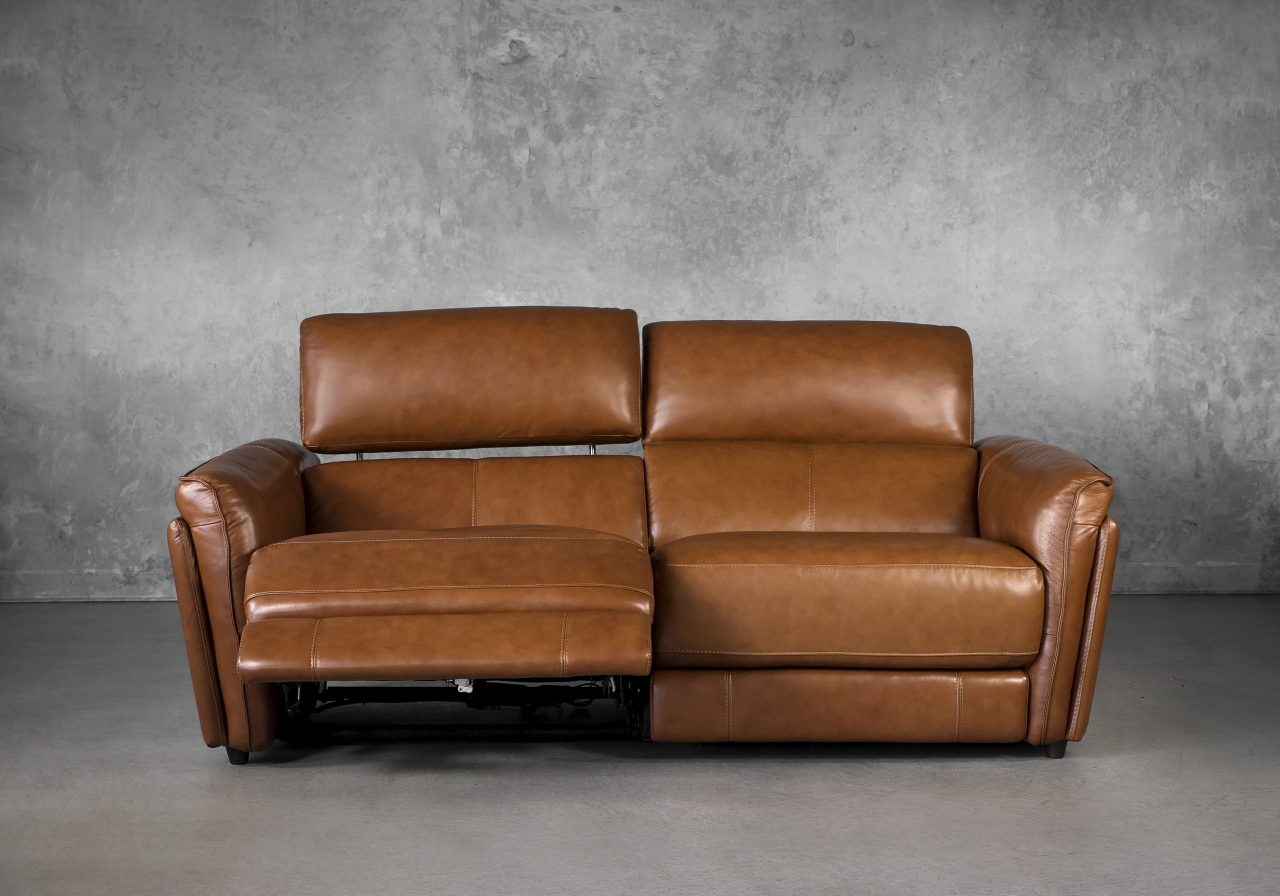 Clark Loveseat and Power Recliner, Reclined, Front