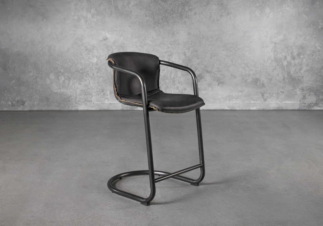 Royce Counter Stool in Black, Angle