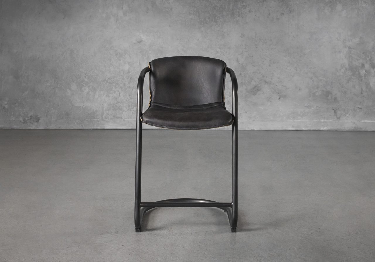 Royce Counter Stool in Black, Front