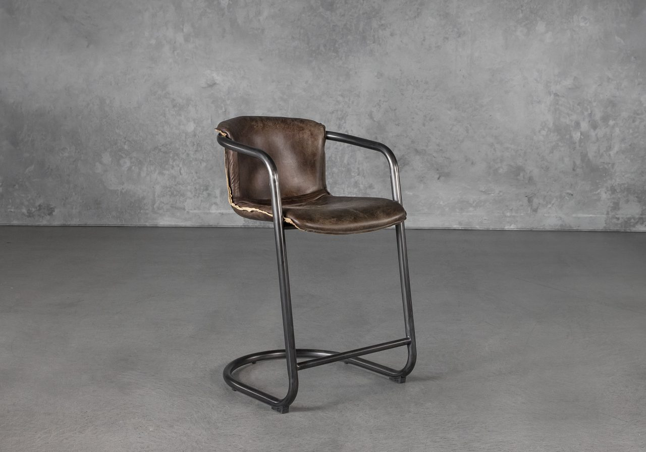 Royce Counter Stool in Brown, Angle
