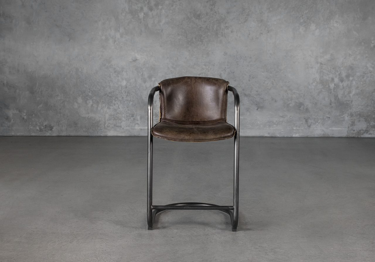 Royce Counter Stool in Brown, Front