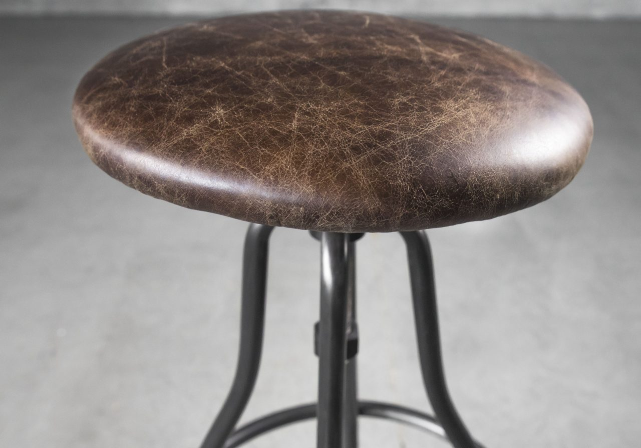 Shay Barstool in Brown, Close Up