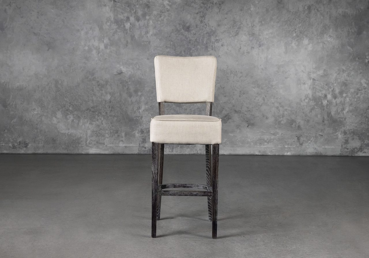 Teton Barstool in Cream, Front