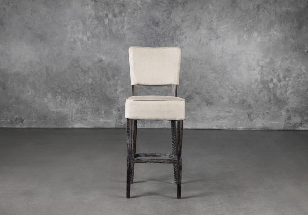 Teton Barstool in Cream, Front