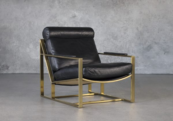 Aaron Chair in Black, Angle
