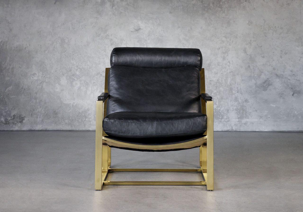 Aaron Chair in Black, Front