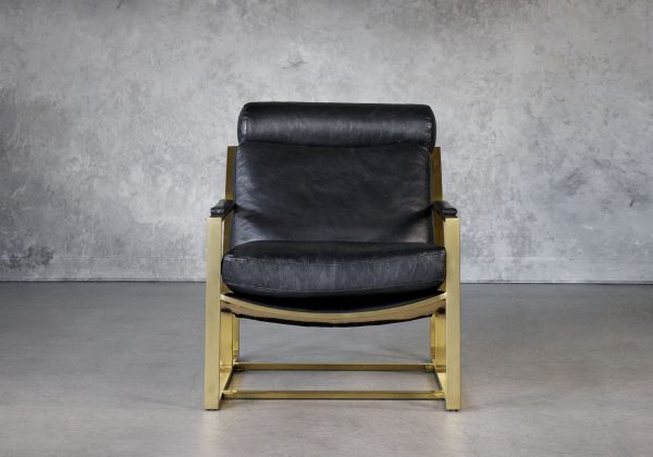 Aaron Chair in Black, Front