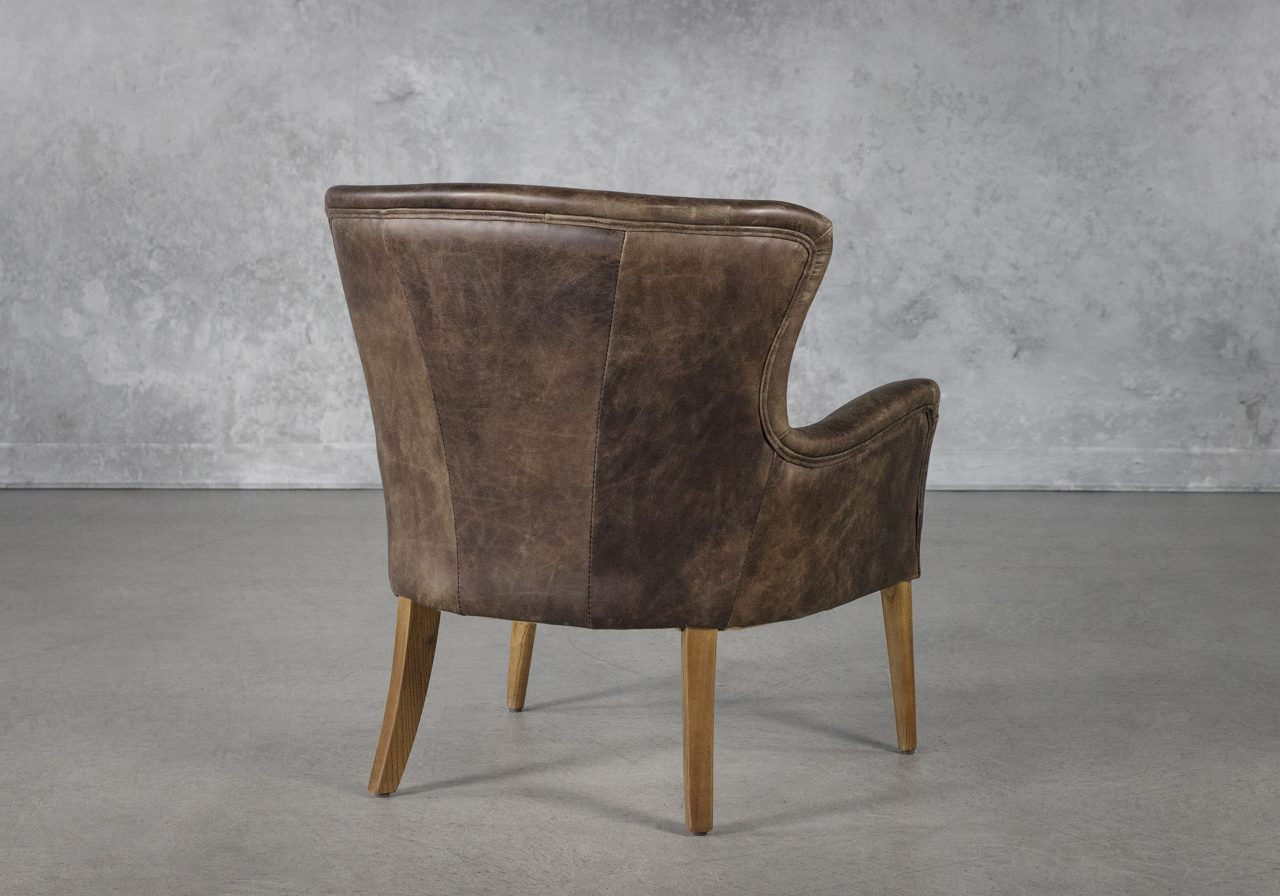 Alex Chair in Brown Leather, Back