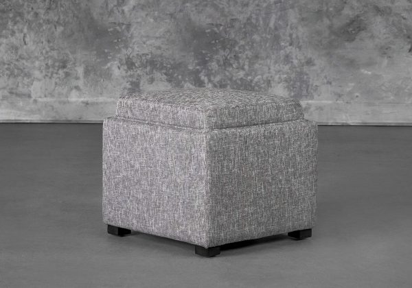 Becky Ottoman in Grey B543, Angle