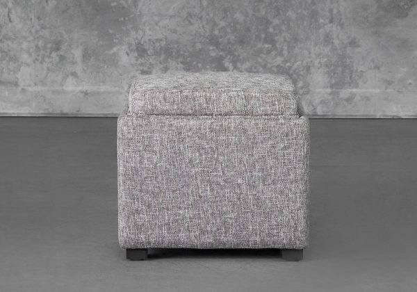 Becky Ottoman in Grey B543, Front