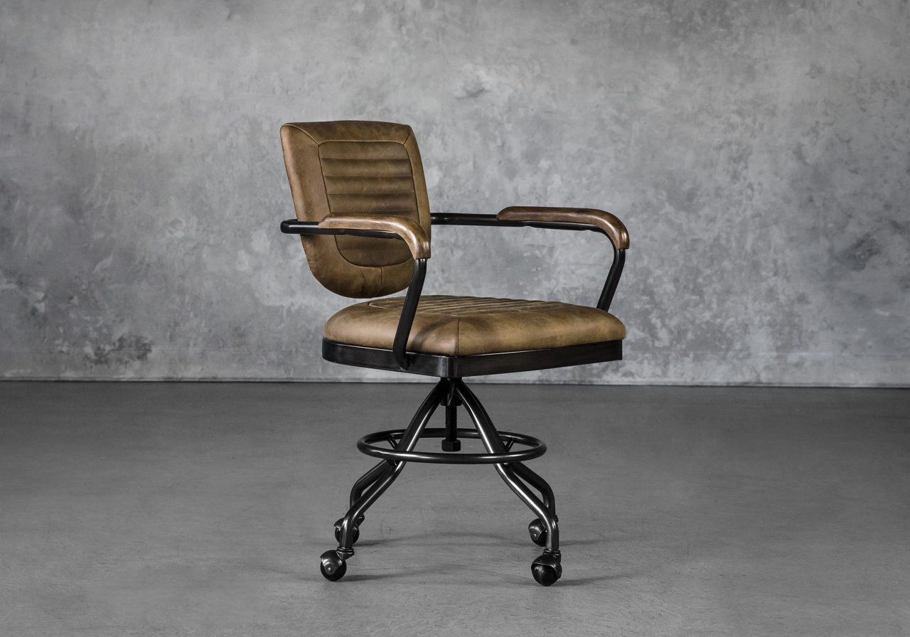 Chevy Desk Chair in Brown, Angle