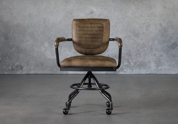 Chevy Desk Chair in Brown, Front
