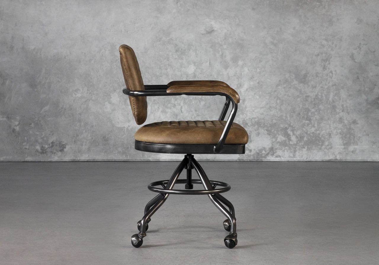 Chevy Desk Chair in Brown, Side