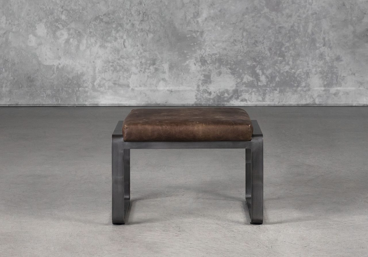 Damo Ottoman in Brown, Front
