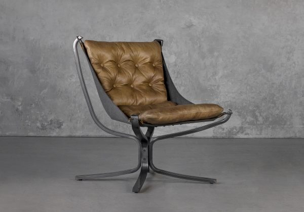 Ford Chair in Brown, Angle