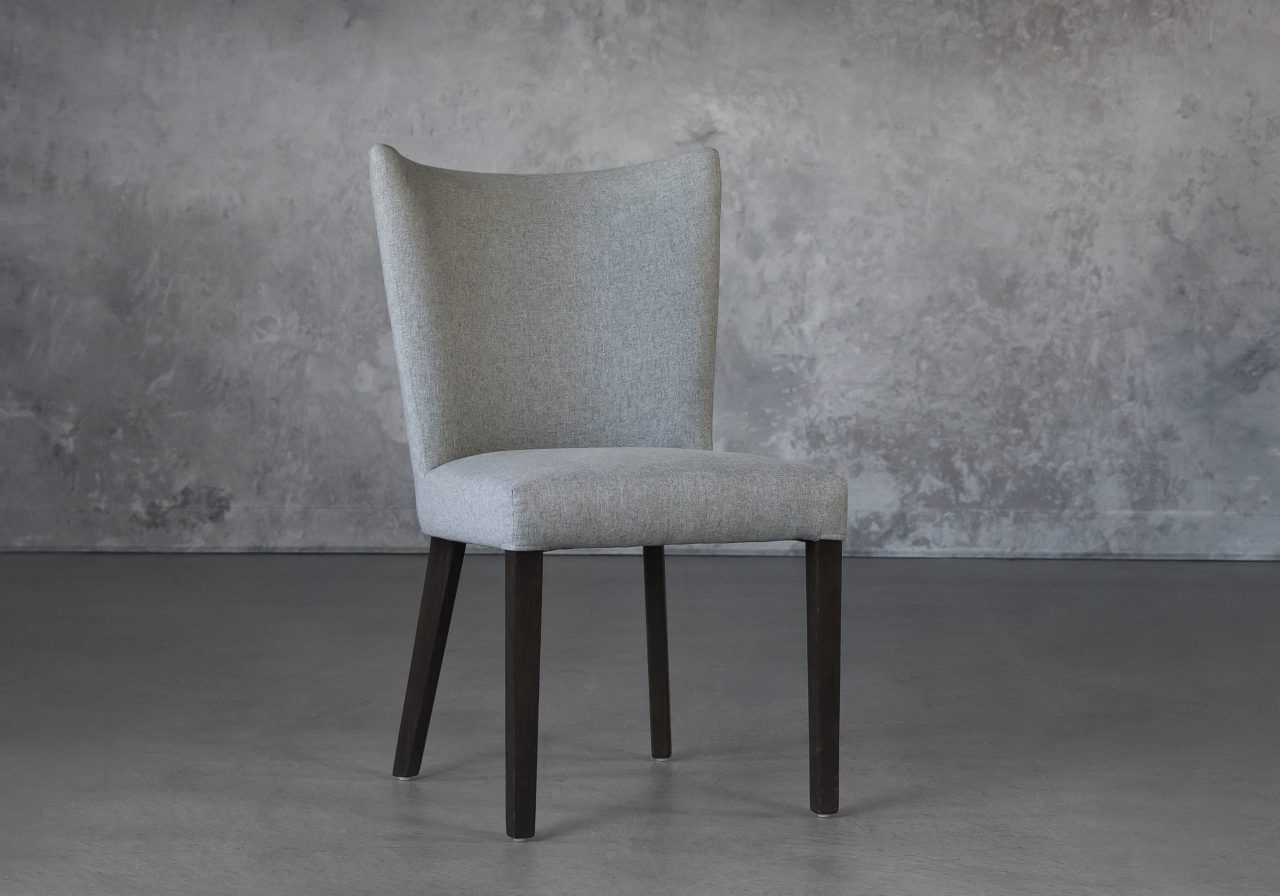 Greg Dining Chair in Grey B645, Angle