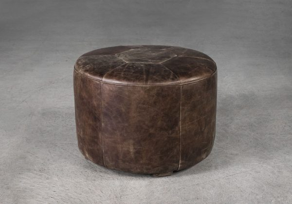 Lexus Ottoman in Brown, Angle