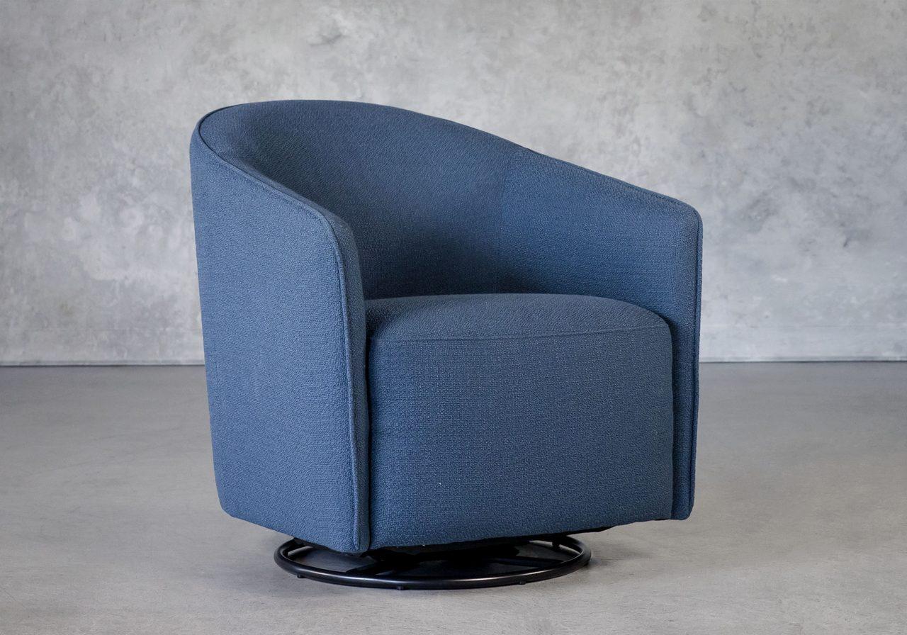 Milner Swivel Chair in Cadet, Angle