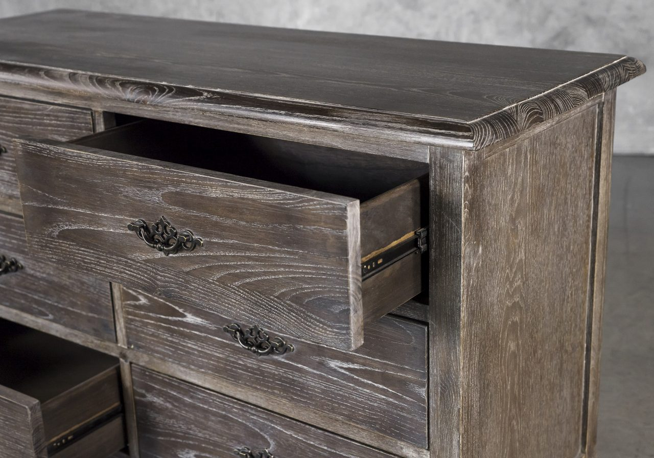 Monarch Low Dresser, Drawer Out, Close Up