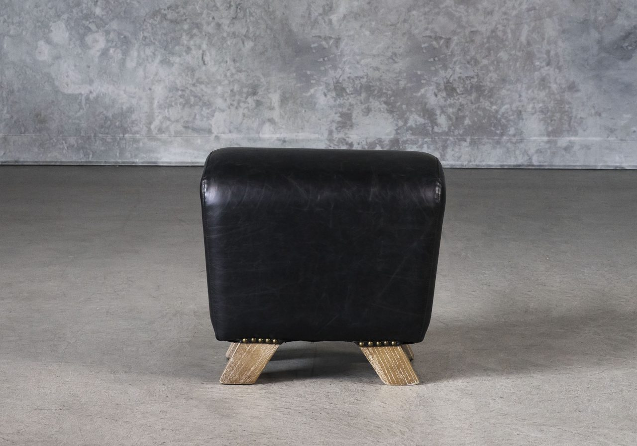 Wilber Ottoman in Black, Front