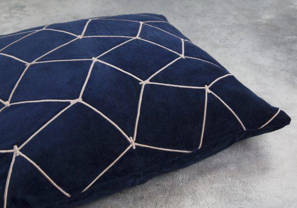 Mesh Navy Pillow 20 x 20, Close Up