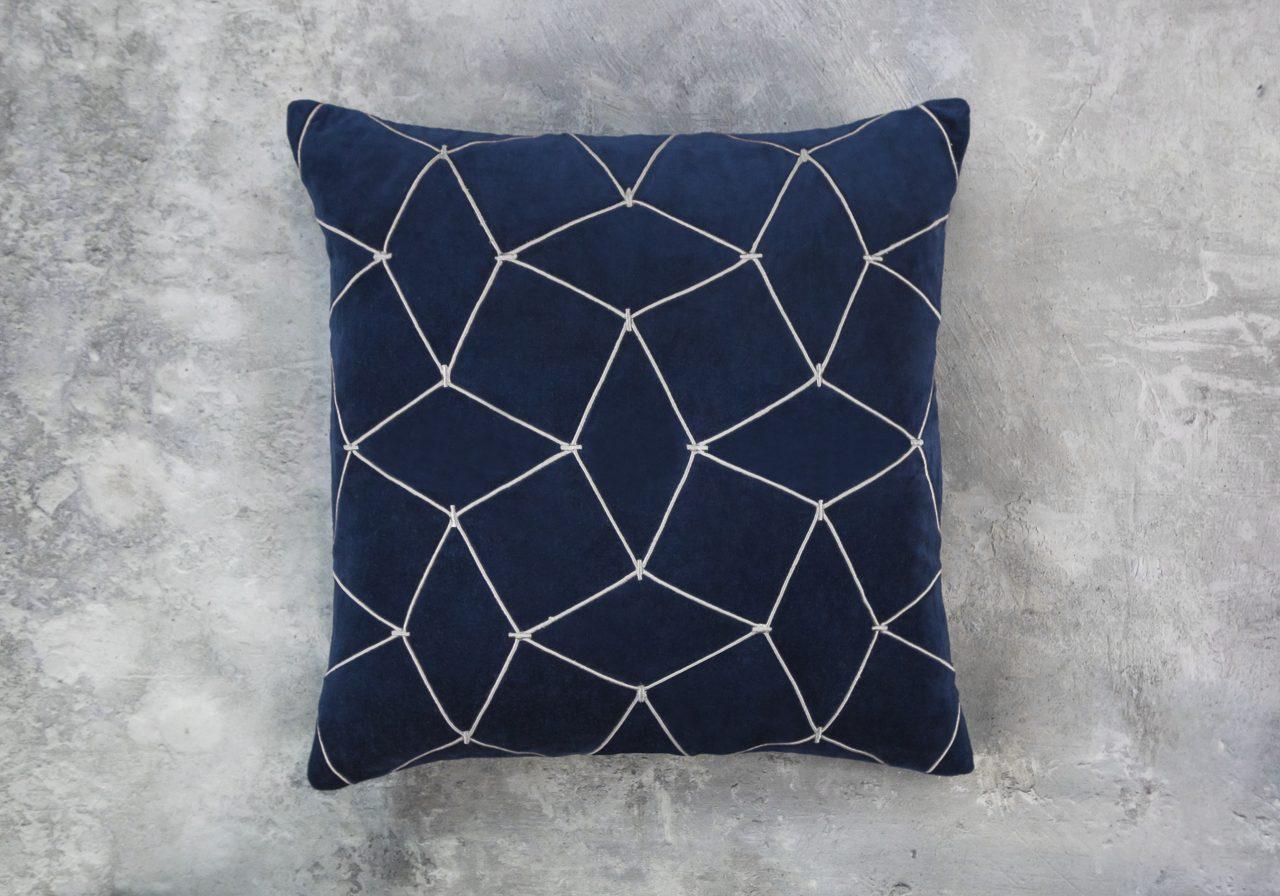Mesh Navy Pillow 20 x 20, Top